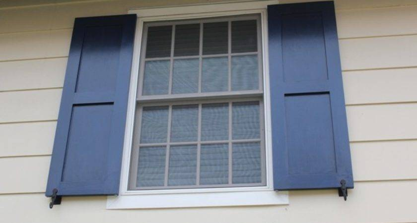 Blue Diy Window Shutters Strangetowne