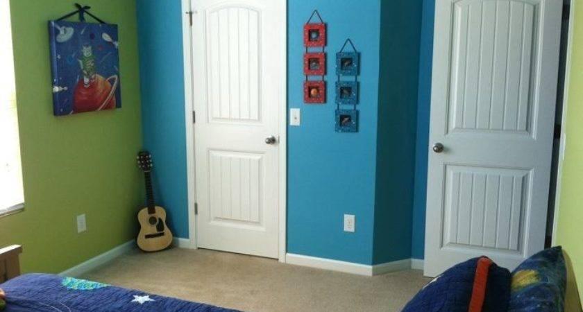 Blue Green Boys Bedroom Walls Painted