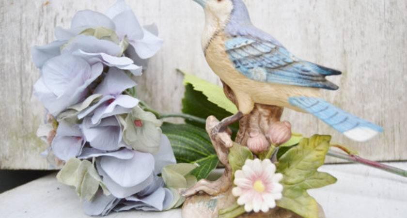 Blue Jay Porcelain Bird Home Decor