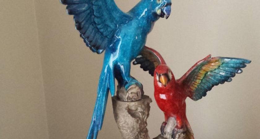 Blue Red Bird Ornament Home Decor Ebay