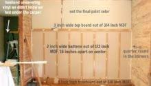 Board Batten Drywall Base Layout