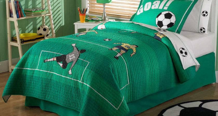Boy Bedroom Design Soccer Themehome Designs