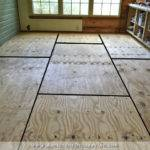 Breakfast Room Progress Plywood Subfloor Installed Over