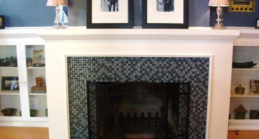 Brick Fireplace Floor Ceiling Makeover