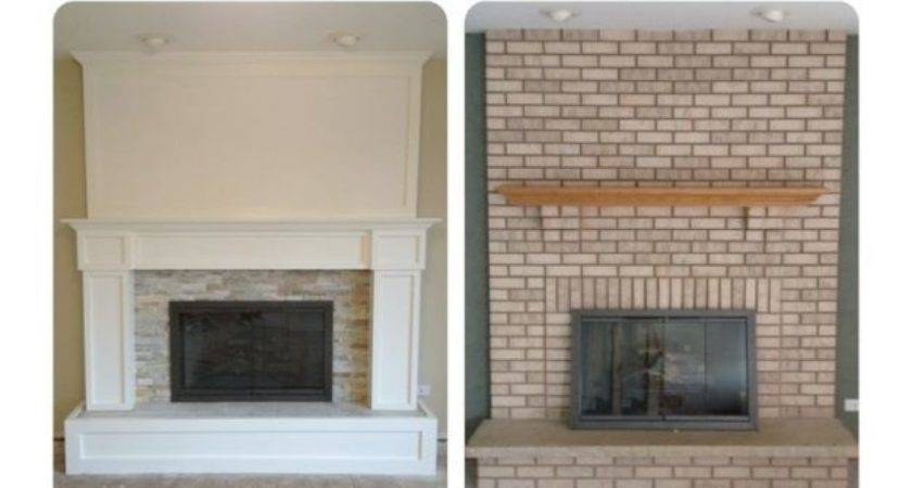 Brick Fireplace Remodel More Nice