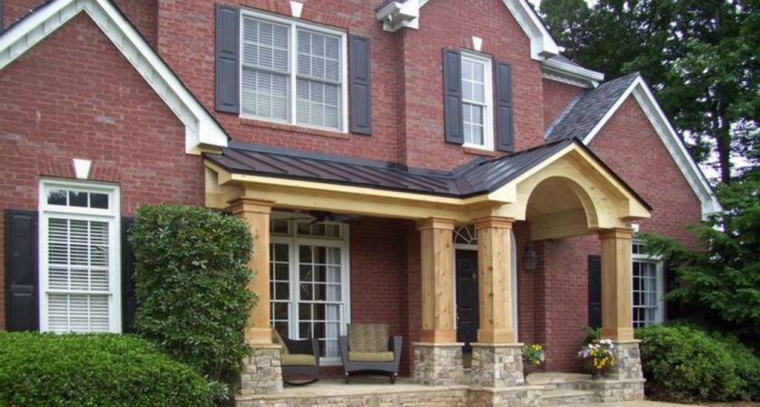 Brick Front Porch Addition Elevation Can