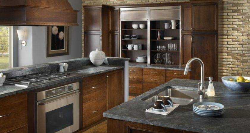 Brick Kitchen Accent Wall Traditional