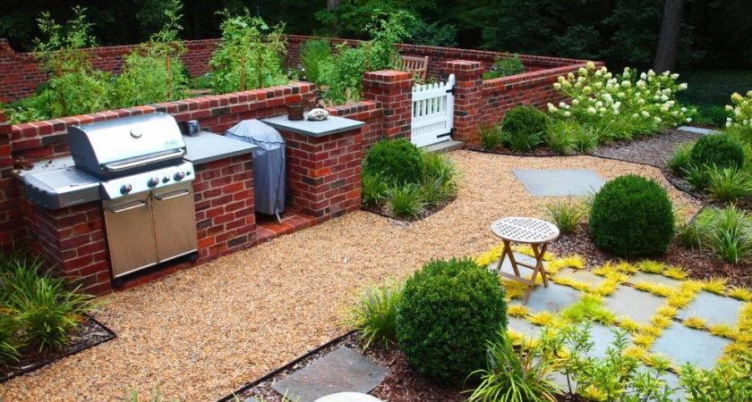 Brick Landscaping Ideas Patio Wall Designs Build
