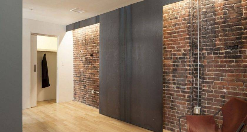 Brick Wall Inside House Building Modern Interior