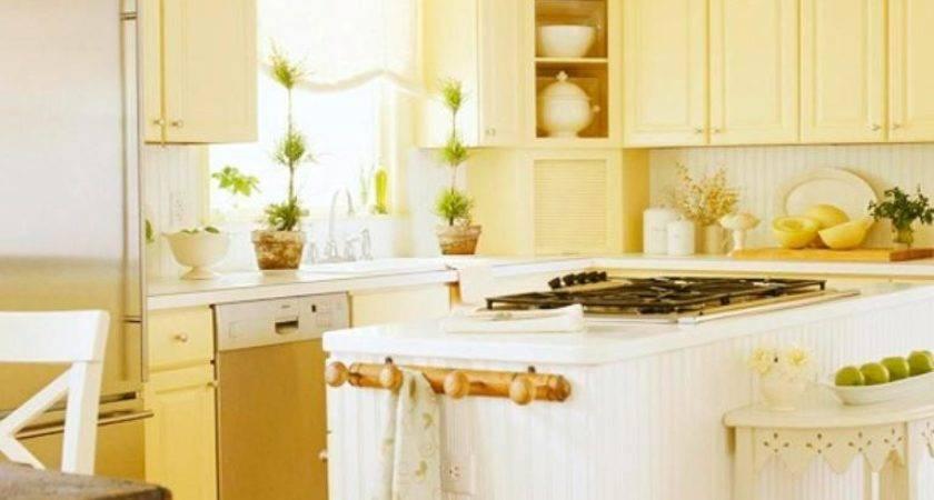 Bright Cozy Yellow Kitchen Designs Rilane