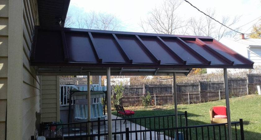 Build Awning Over Deck Outdoor Amazing Adding