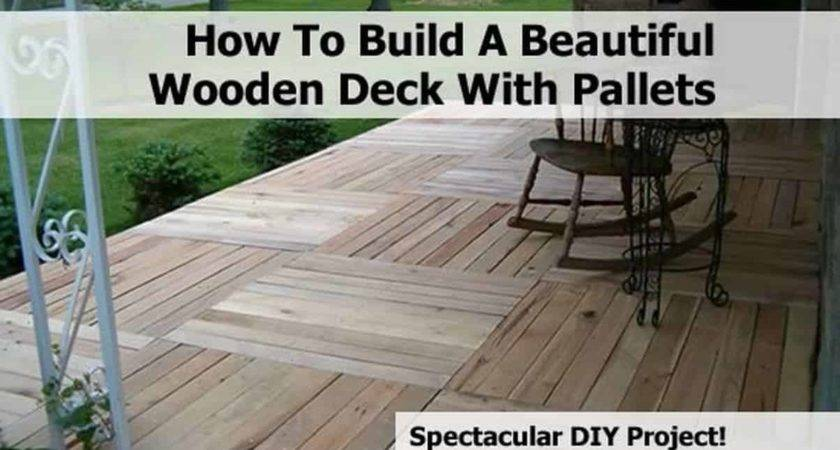 Build Beautiful Wooden Deck Pallets