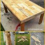 Build Coffee Table Pallets Pallet Furniture