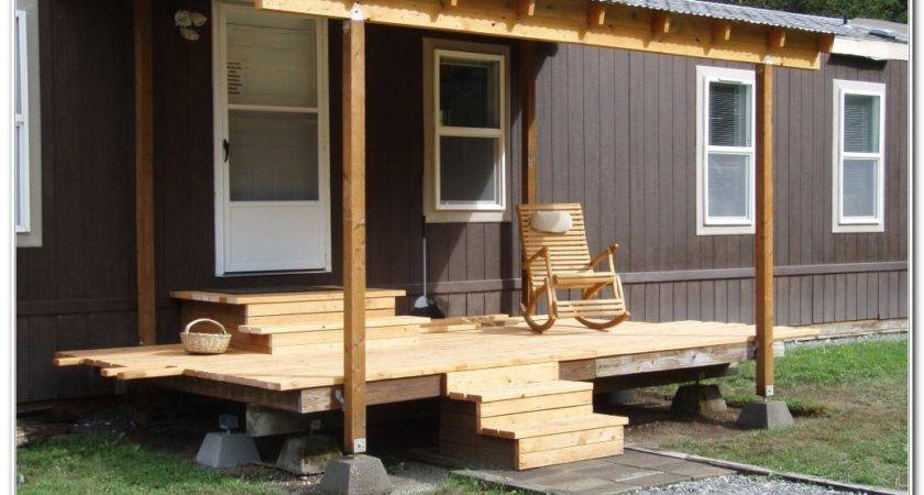 Build Deck Mobile Home Decks Decorating Ideas