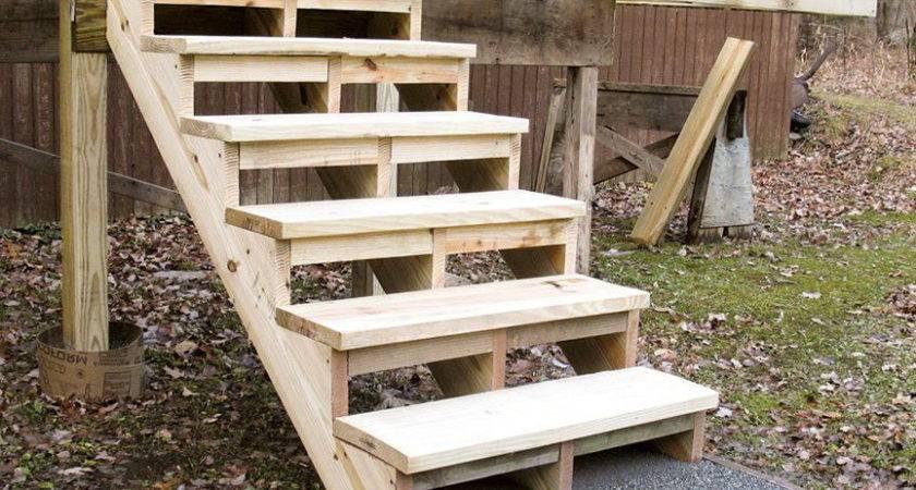 Build Deck Stairs Pre Cut Stringers Home Design Ideas