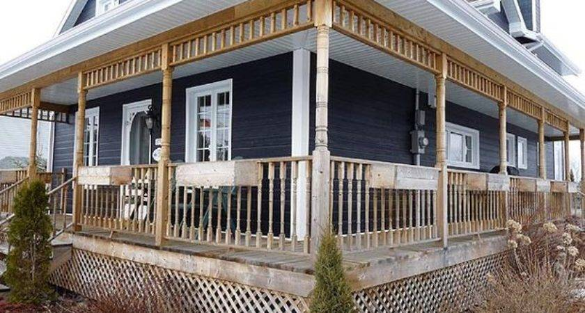 Build Deck Wrap Around Porch Raised
