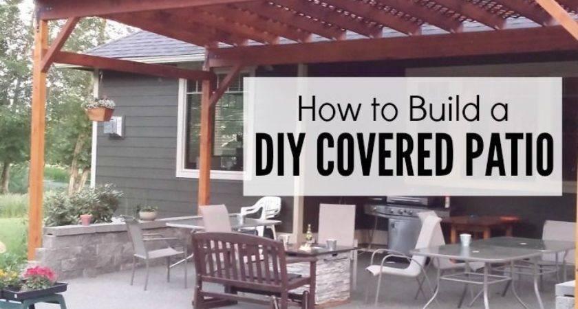Build Diy Covered Patio Backyard Patios Woods