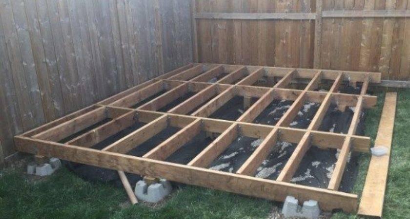 Build Floating Deck Decking