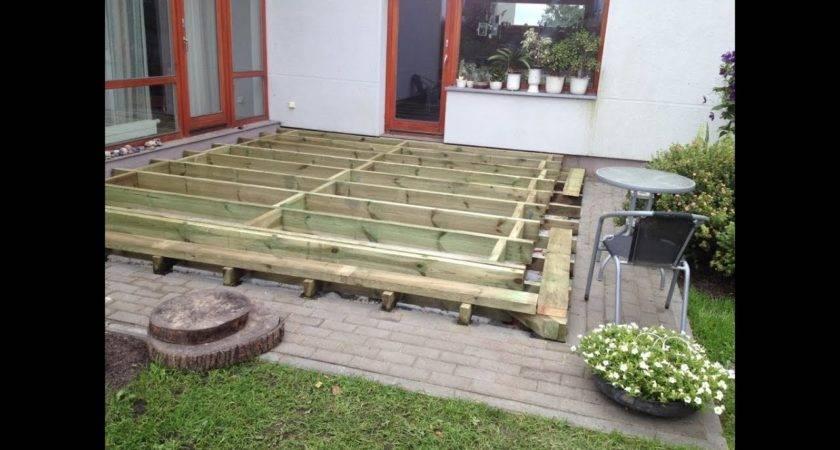 Build Ground Level Deck Frame Part Youtube
