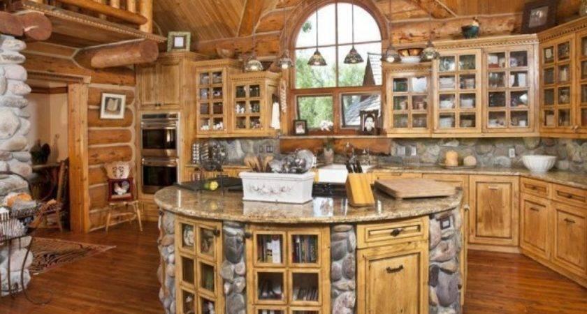 Build Log Home Make Dream Kitchen Design