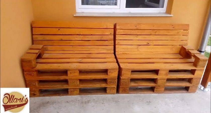 Build Pallet Sofa Step Youtube