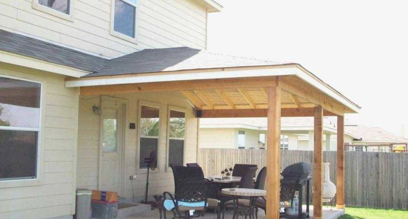 Build Patio Cover Attached House Awesome Roof
