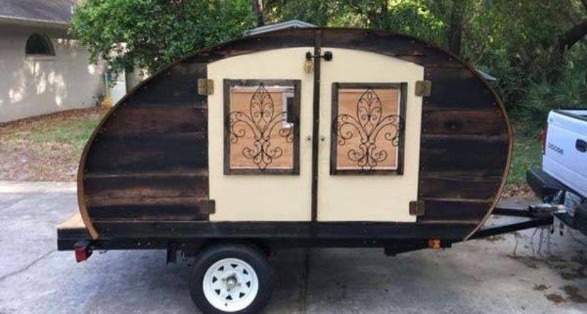 Build Reclaimed Wood Micro Teardrop Camping Trailer