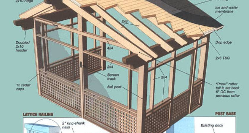Build Screen Porch Joy Studio Design