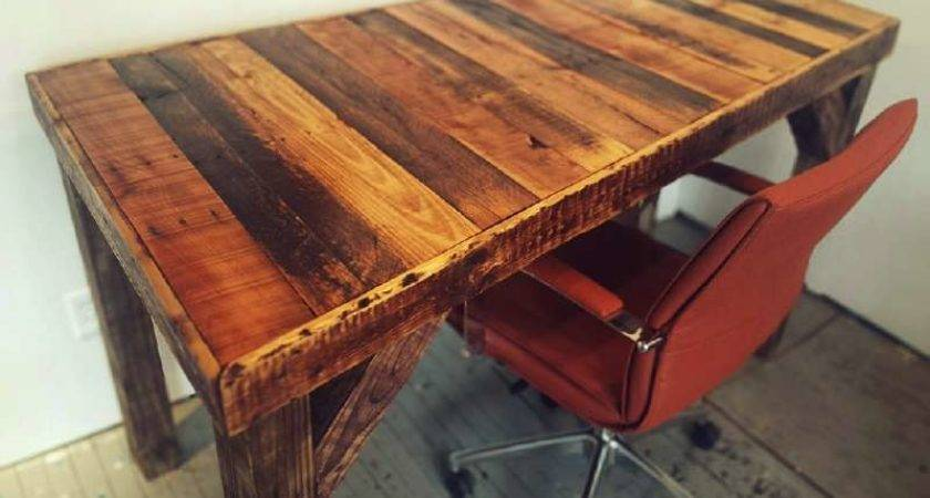 Build Vintage Desk Your Officediy Pallet