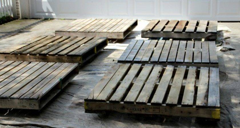 Build Wood Pallet Deck Hoosier Homemade