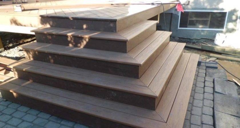 Building Deck Stairs Around Corner Landscape Design