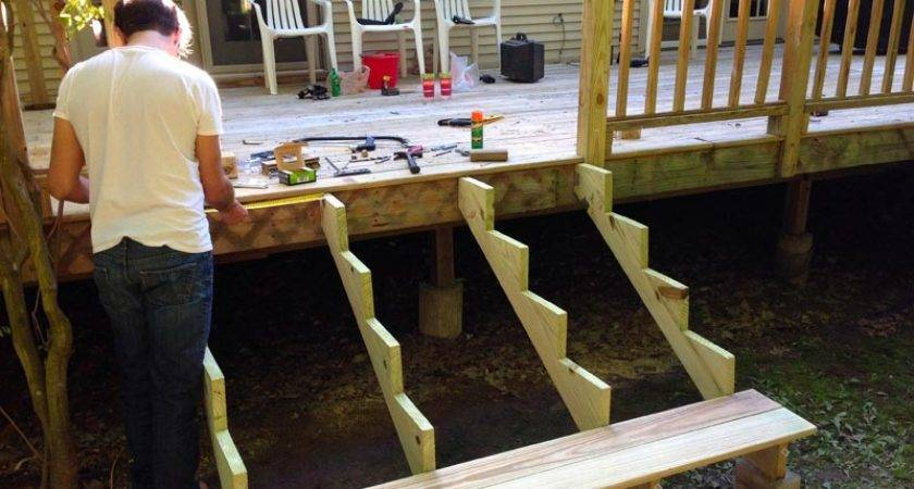 Building Deck Stairs Pre Made Stringers Landscape
