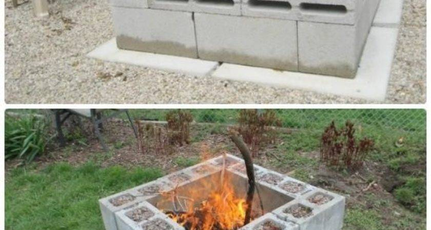 Building Fire Pit Cheap Diy Cinder Block Garden