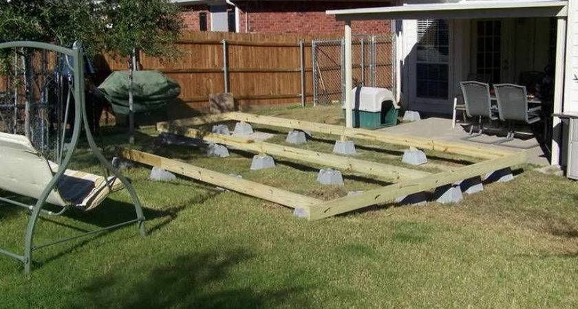 Building Floating Deck Blocks Home Design Ideas
