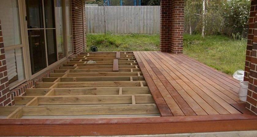 Building Floating Deck Over Concrete Slab Hardscape