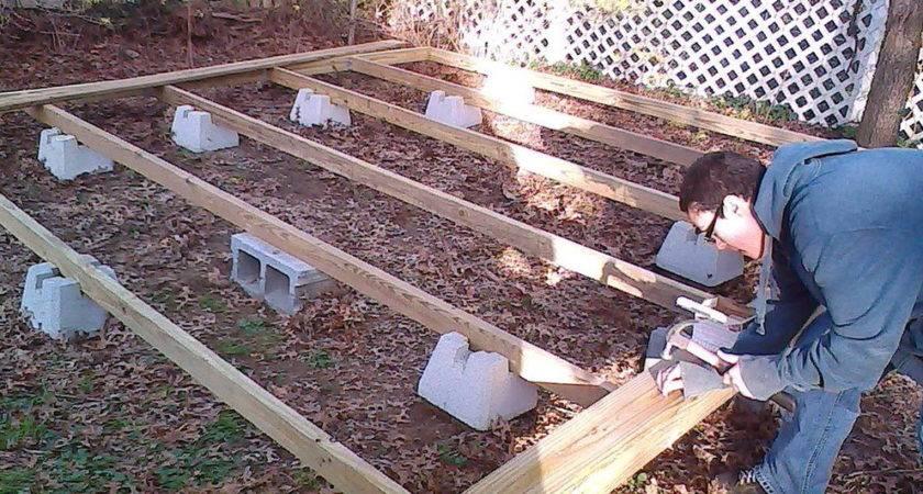 Building Freestanding Deck Blocks Home