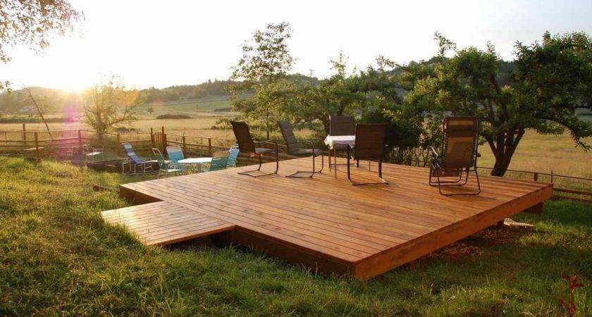 Building Freestanding Deck Plans Diy Build
