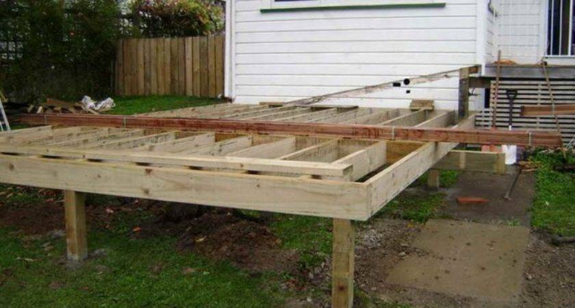 Building Freestanding Deck Step Home Design Ideas