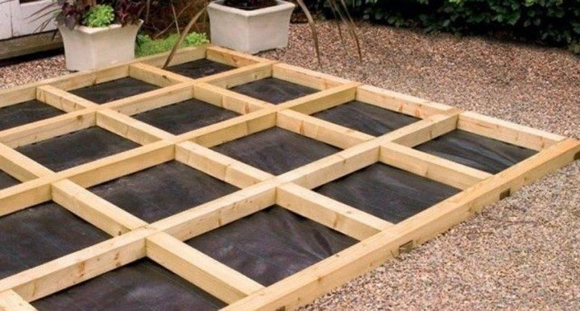 Building Ground Level Deck Home Pinterest