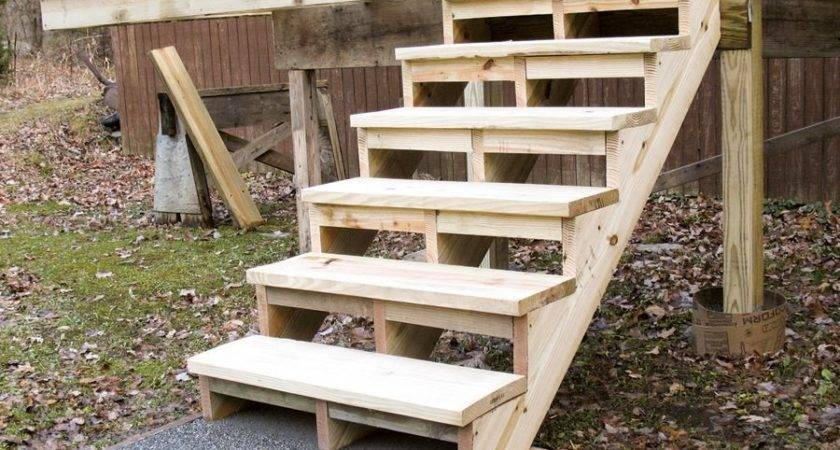 Building Installing Deck Stairs Professional