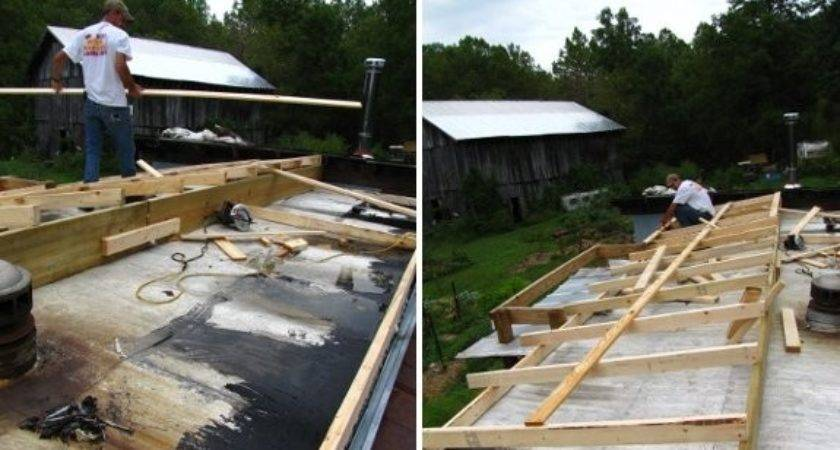 Building New Roof Mobile Home