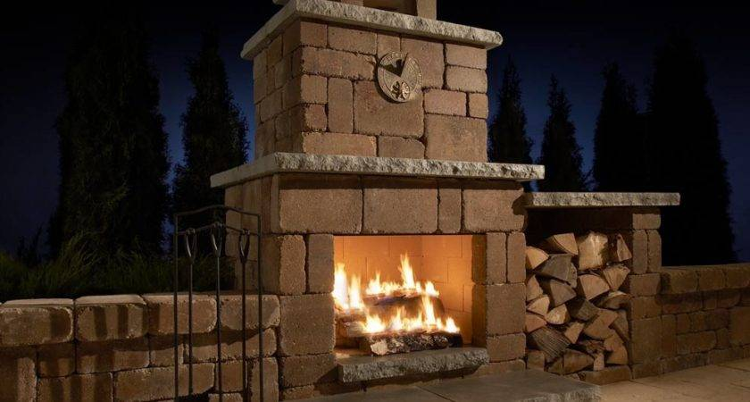 Building Outdoor Wood Burning Fireplace Kits