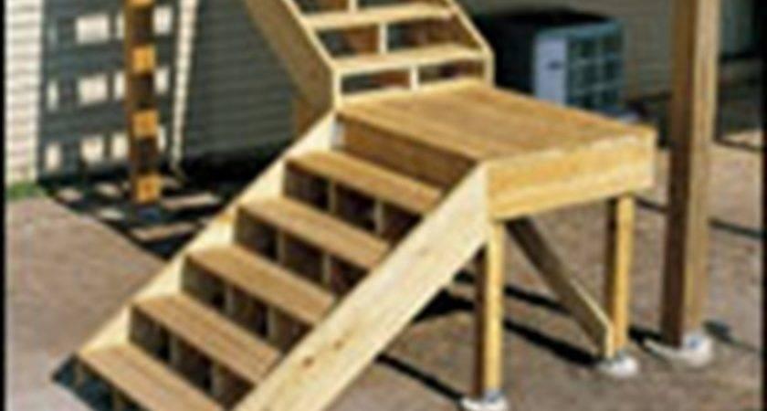 Building Stairs Deck Decks Build