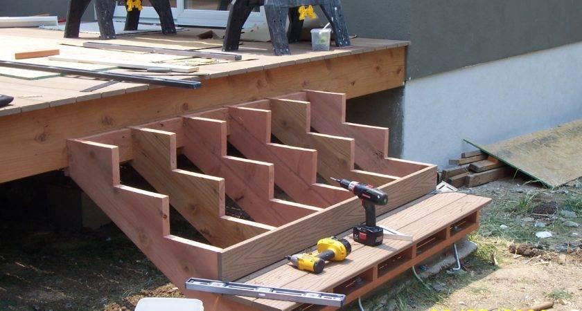 Building Steps Around Corner Deck Diy Step