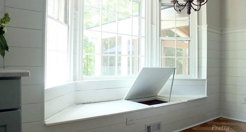 Building Window Seat Storage Bay