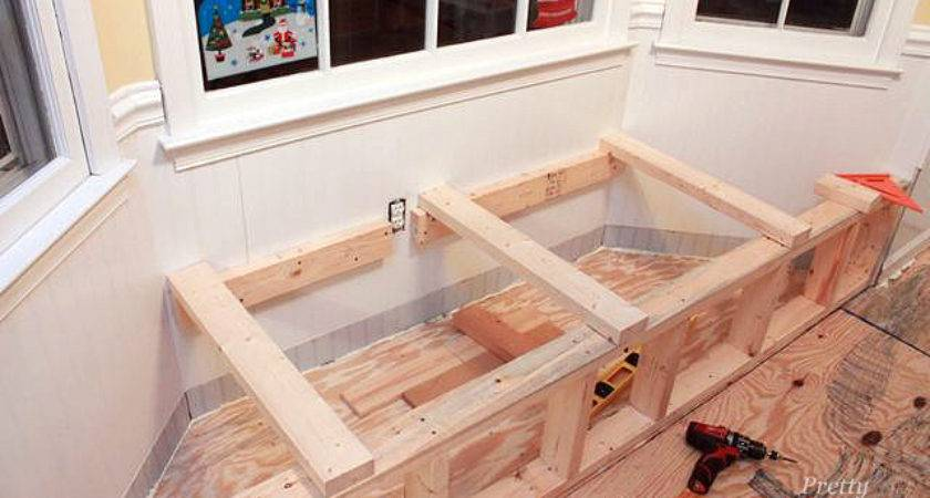 Building Window Seat Storage Bay