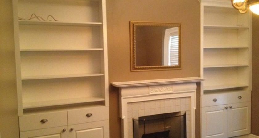 Built Cabinets Modern Living Room Toronto