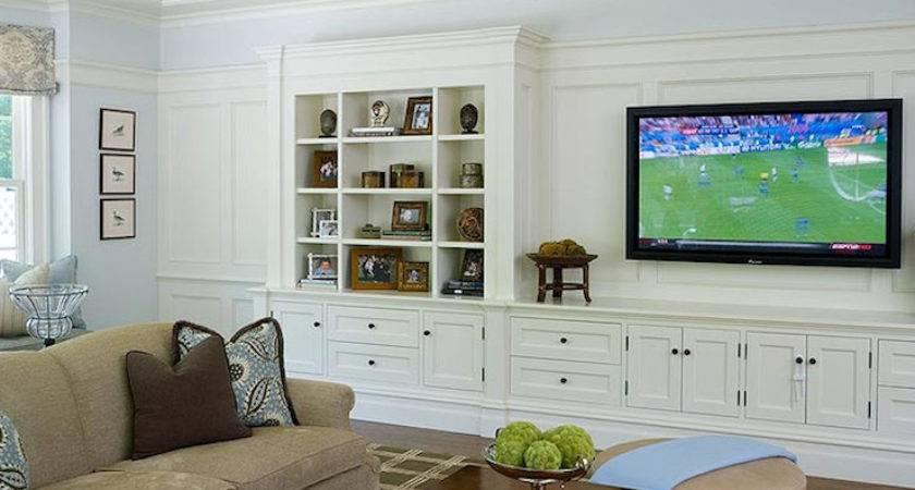 Built Cabinets Transitional Living Room Alisberg