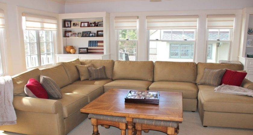 Built Storage Bench Traditional Living Room New York
