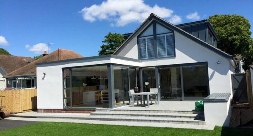 Bungalow Remodel Extend Contemporary Exterior